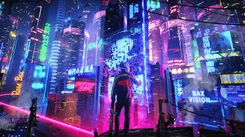 Cybepunk, Night, City, Sci-Fi, Cityscape, Buildings, 4K, #6.2531
