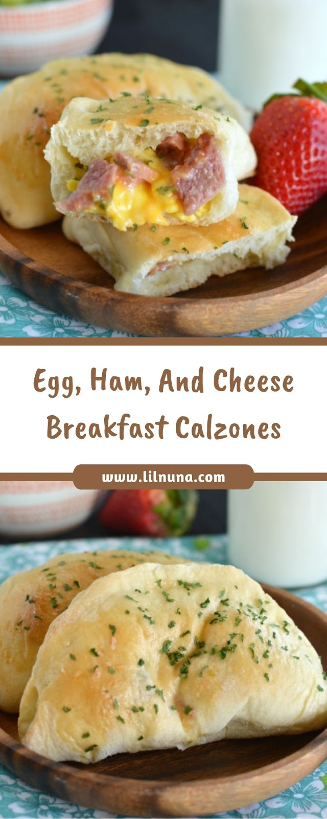 Egg, Ham, And Cheese Breakfast Calzones