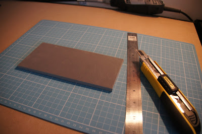 Cutting a rectangle from foam