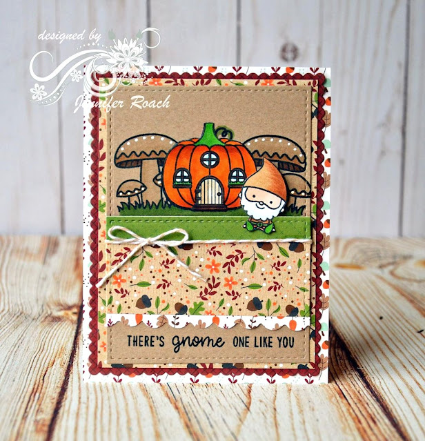 Sunny Studio Stamps: Home Sweet Gnome Customer Card by Jennifer Roach