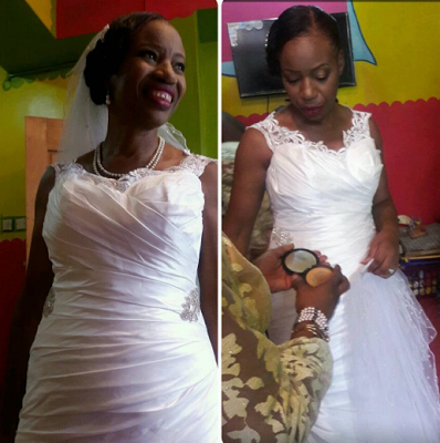 Stunning!!! 60 year old Nigerian woman got married for the first time - PIC