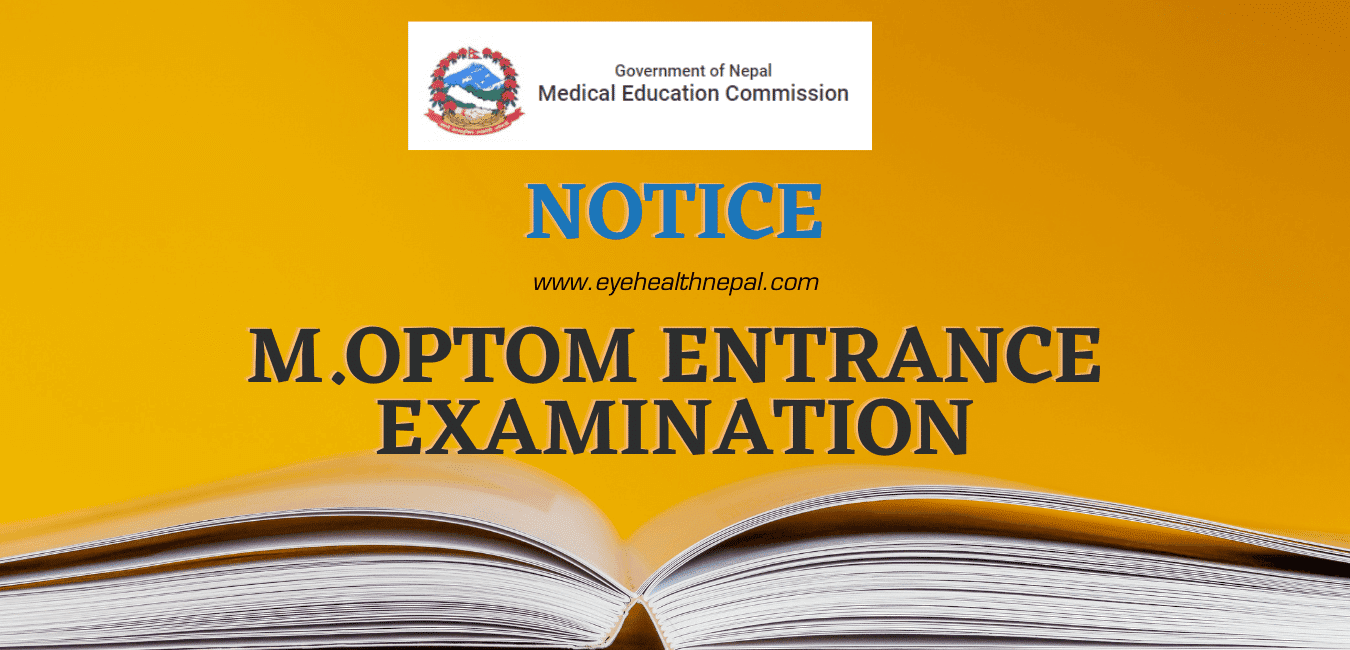 Medical Education Commission Nepal - Master in Optometry Admission
