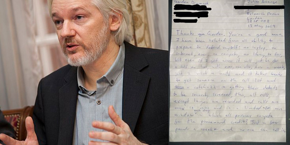 Julian Assange Wrote A Letter To His Supporters From British Prison
