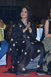 Actress Anushka Anushka Shetty Stills in Black Salwar Kameez at Om Namo Venkatesaya Audio Launch Event  0040.JPG