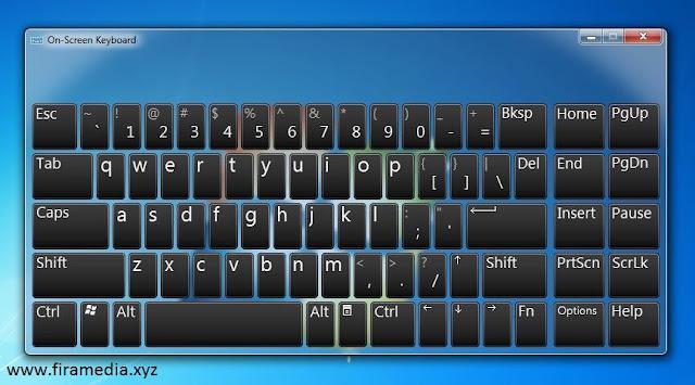 tampilan On-Screen Keyboard