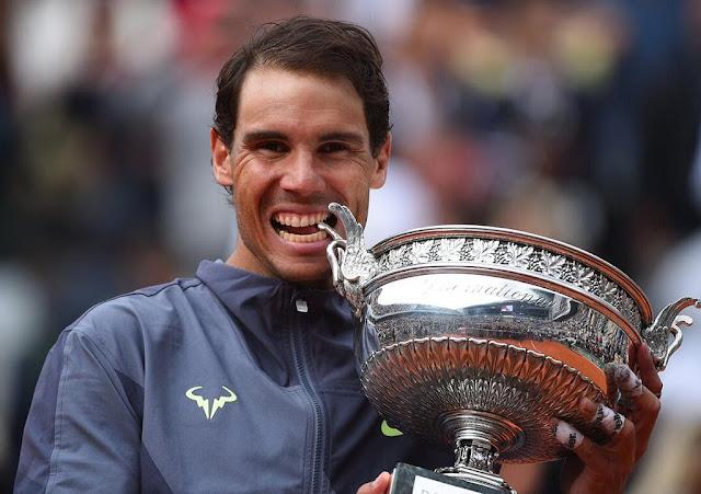 Rafael Nadal é o jogador com mais títulos de Roland Garros