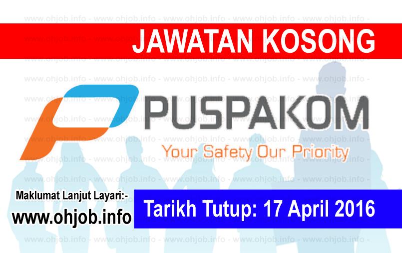 Jawatan Kerja Kosong PUSPAKOM Sdn Bhd logo www.ohjob.info april 2016