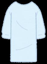 個人防護具のイラスト(男性・ガウン)