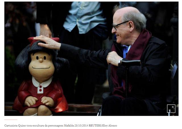 Cartunista argentino Quino, pai da Mafalda, morre aos 88 anos