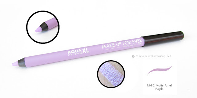 MAKE UP FOR EVER Aqua XL Eye Pencils M-10 Matte Black M-92 Matte Pastel Purple Review Swatch Generation Beauty Toronto 2016