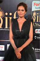 Esha Gupta in a Deep Neck Sleeveless Dark Green Gown at IIFA Utsavam Awards 2017     34.JPG