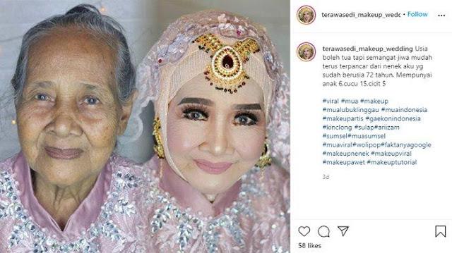 Viral Foto Wajah Nenek 72 Tahun 'Disulap' jadi Tampak Lebih Muda, sang Perias Ternyata Seorang Pria