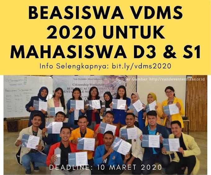 BEASISWA VDMS 2020 UNTUK MAHASISWA D3 DAN S1