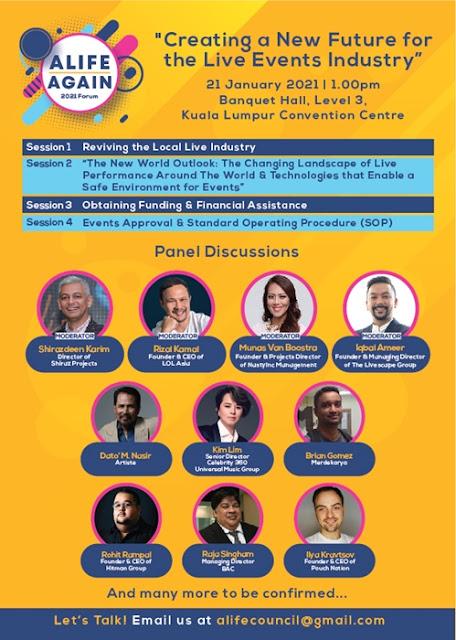 ALIFE AGAIN, Mencipta Masa Depan Baru Industri Acara Langsung, Alife Again Forum 2021, Ilya Kravtsov, Pouch Nation, Kim Lim, Cendana, Lifestyle