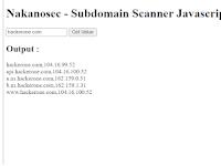 Membuat Online Subdomain Scanner dengan Javascript