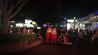 Tweedledee Tweedledum and Queen of Hearts at Mickey's Not So Scary Halloween Party