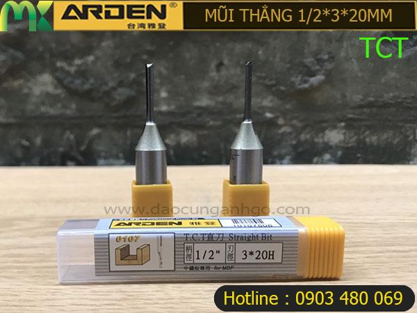 Mũi Router Arden 1/2*3*20mm TCT