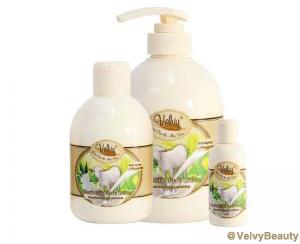 Rahasia kulit putih halus dan sehat denganVelvy Goat's Milk Shower Cream Green Tea & Aloe Vera