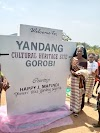 Miss Yandang Nigeria Hrm. Queen Happy Jackson Unveiled Signpost For Yandang Cultural Heritage Site