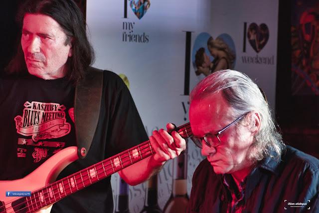 Mirosław Rzepa (z lewej) - gitarzysta i basista bluesowy, multiinstrumentalista, kompozytor