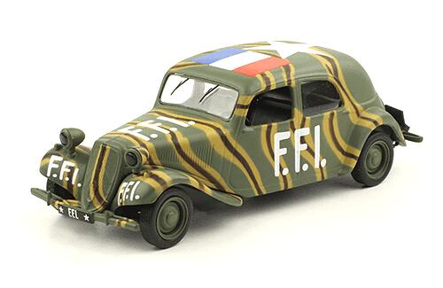 CITROËN TRACTION AVANT 11 BL 1:43, voitures militaires de la seconde guerre mondiale