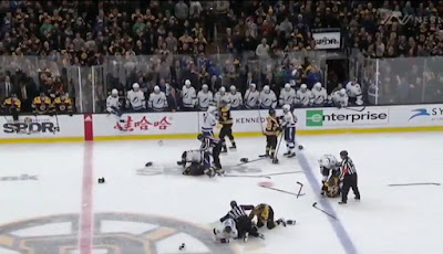 bruins lightning line brawl