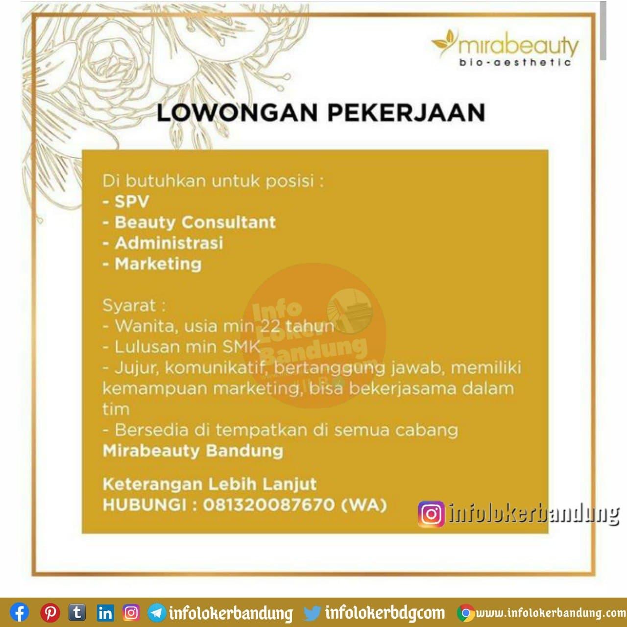 Lowongan Kerja Mirabeuaty Bandung Januari 2021