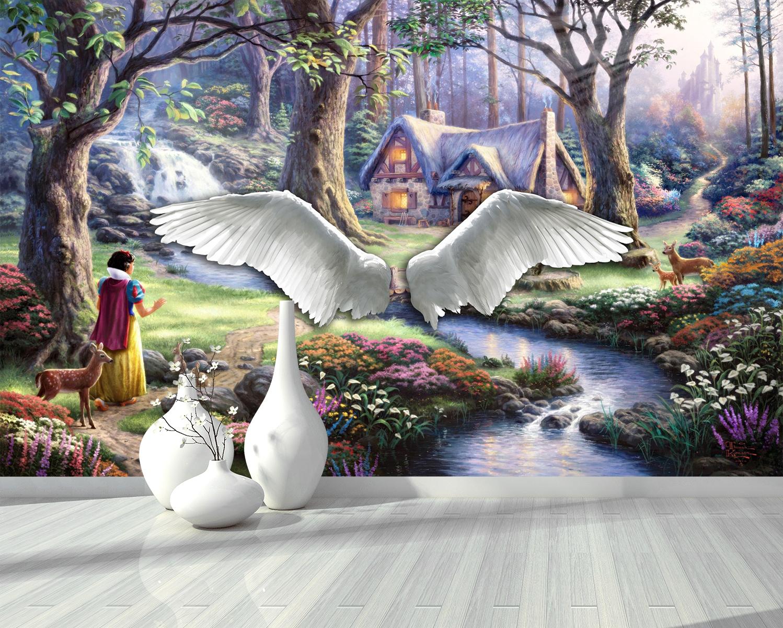 Tranh Phong Cảnh  Và Đôi Cánh Thiên Thần
