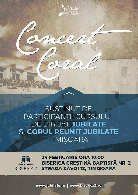 Concert Coral Jubilate la Biserica Nr 2 Timsoara