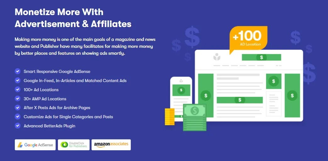 Cost efficent Publisher theme