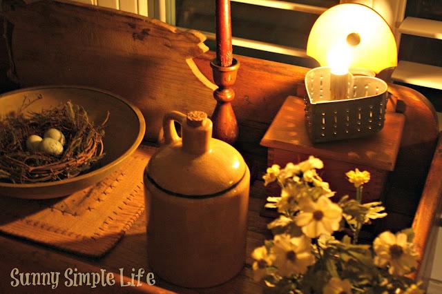 fall, candlelight, crocks