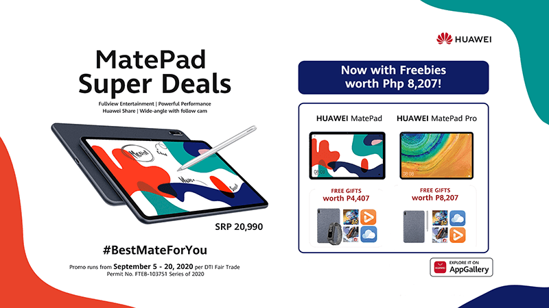 Huawei outs MatePad Super Deals with freebies up to worth PHP 8,207
