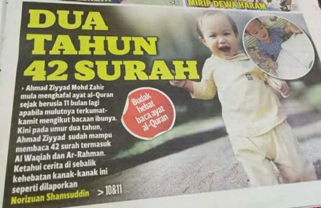 VIDEO: Masya Allah, Ternyata Ini Rahasia Bayi 2 Tahun Hafal Al-Qur'an