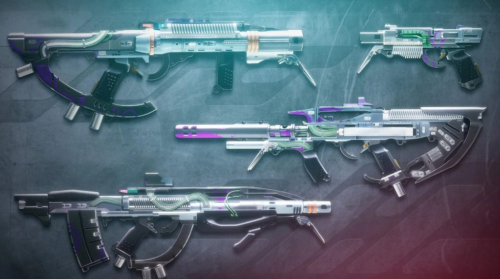 The new seasonal weapons with a cyberpunk look