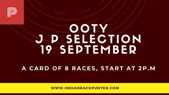 Chennai Ooty Jackpot Selections 19 September