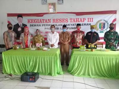 Mingrum Gumay: Kegiatan Reses Dapil Lampung Tengah, Serap Aspirasi Masyarakat