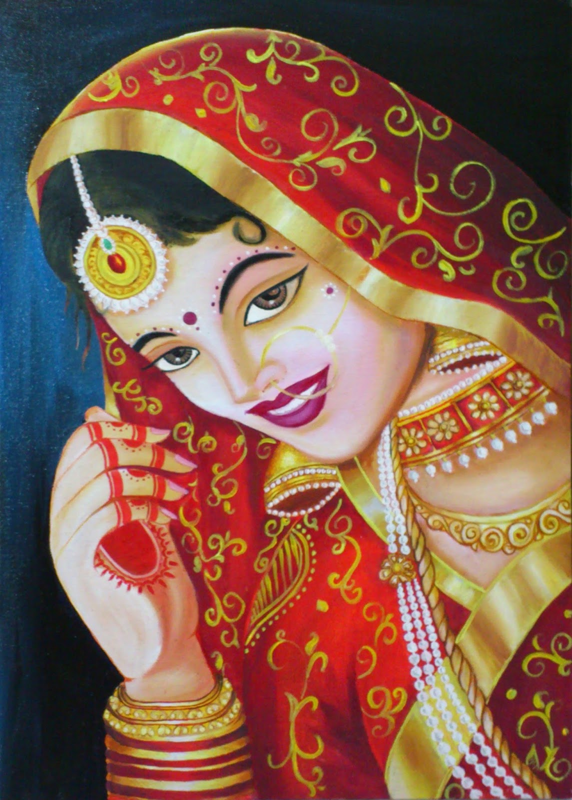 Oil Painting of an Ind...