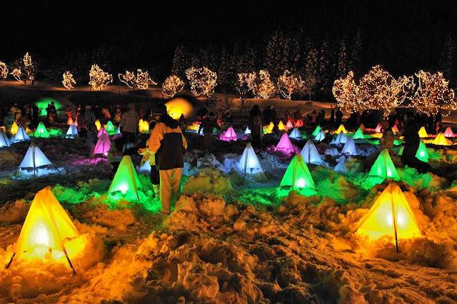 Mt. Tateyama Snow Illumination Festival, Toyama Pref.