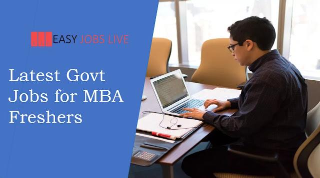 Latest Govt Jobs for MBA Freshers  Sarkari Naukri Notifications