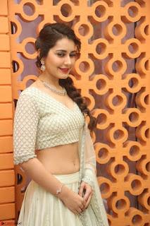 Raashi Khanan looks stunning in Crop Top Deep neck Choli Ghagra Transparent Chunni WOW ~  Exclusive Celebrities Galleries 100.JPG