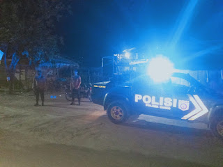 Tingkatkan Kewaspadaan Jaga Kamtibmas, Personil Polsek Curio Lakukan Patroli Blue Light