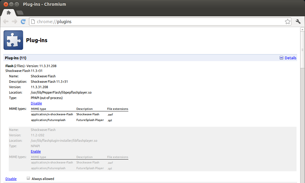 How to Install Latest Flash Player in Chromium ~ Ubuntu Vibes