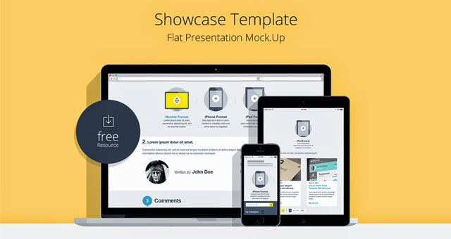 Flat Responsive Showcase Mockup