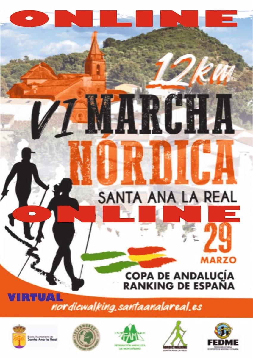 ONLINE / VIRTUAL VI MARCHA NÓRDICA SANTA ANA LA REAL 2020