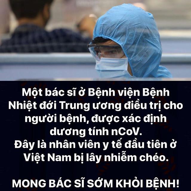 Bác sĩ đầu tiên ở Việt Nam bị lây nhiễm chéo, được xác định nhiễm Covid-19
