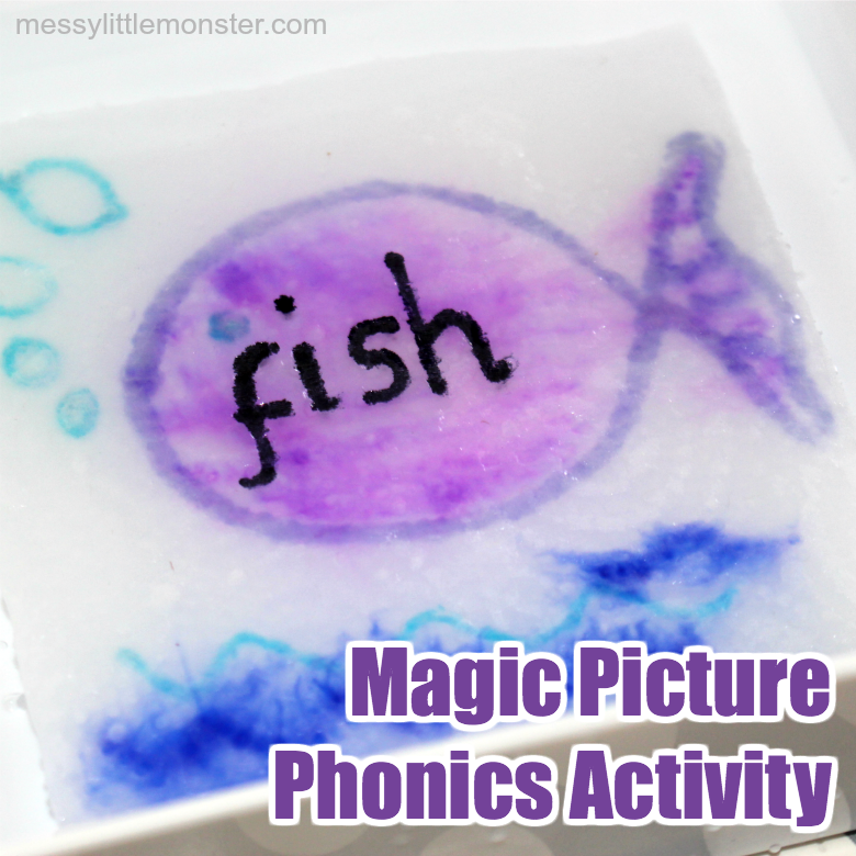 Magic paper towel art phonics activity