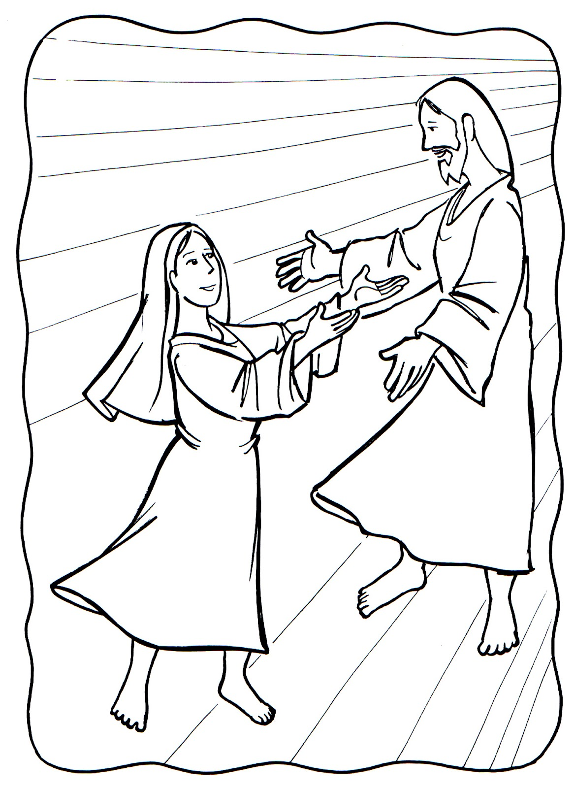 assumption of mary coloring pages - photo#9
