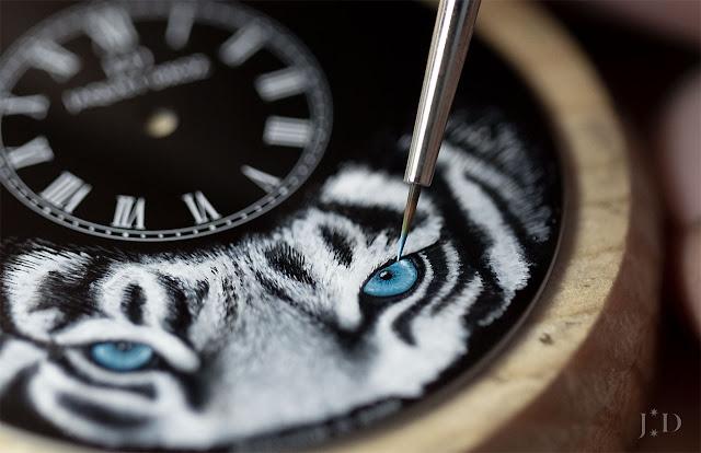 "Jaquet Droz Petite Heure Minute ""Tiger"" J005034275"