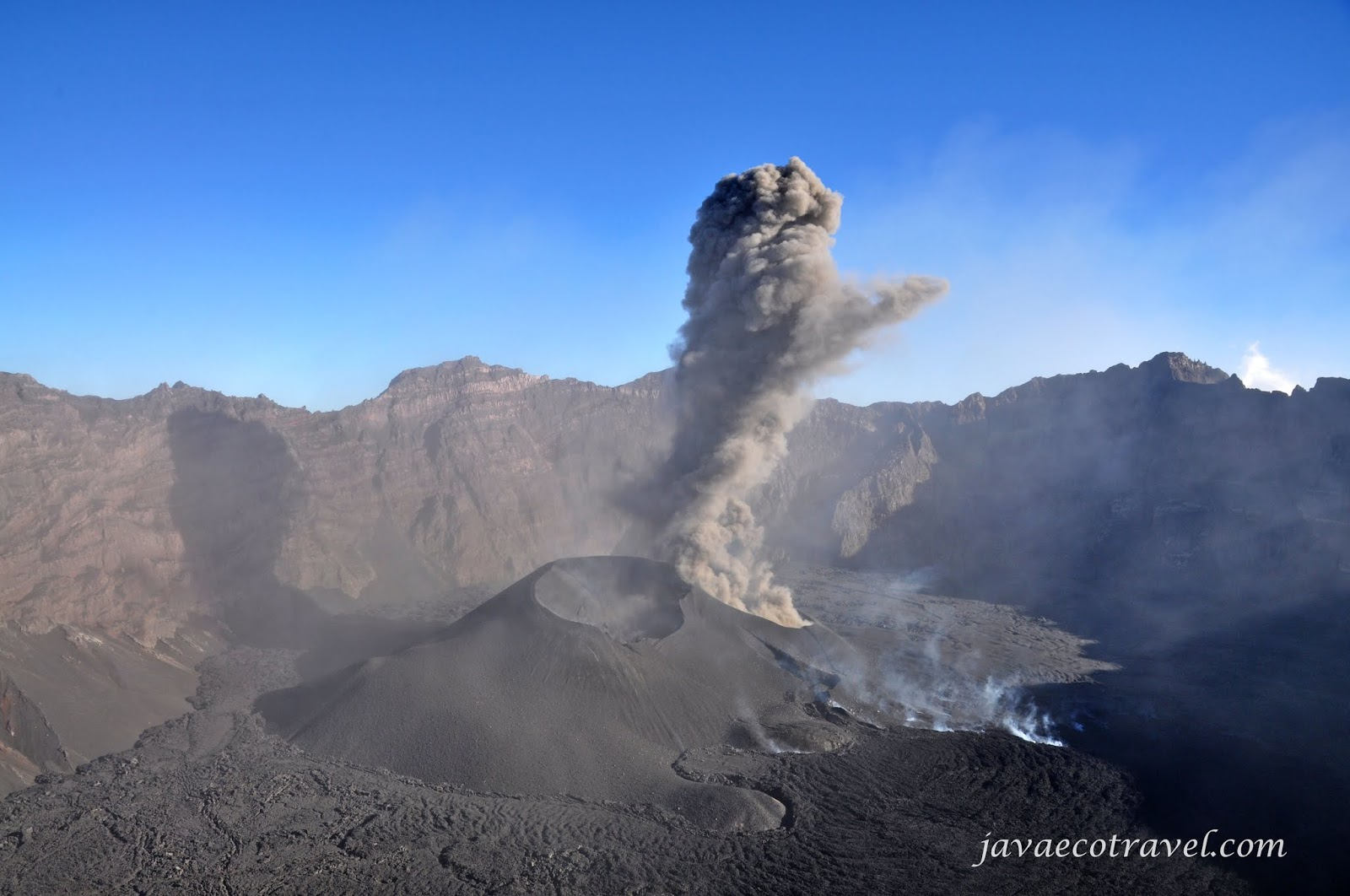 Raung Volcano Crater