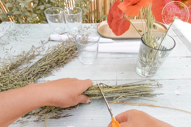 Naturdeko-Idee aus Gräsern